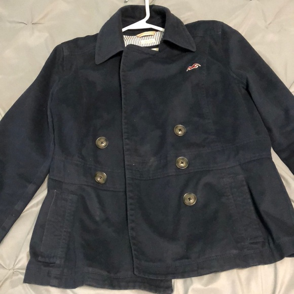 Hollister Jackets & Blazers - Navy blue double breasted jacket